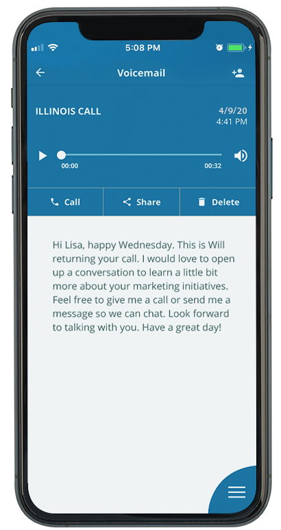 Voice to Text Product Showcase on Mobile Phone